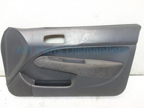 Used 2000 Honda Civic Passenger DOOR PANEL PLASTIC PANEL BEHIND LEATHER FABRIC IS CRACKED CAUSING A DENT IN THE PANEL, CIGARETTE BURN IN CLOTH ARMREST, 83500-S02-A11 83500S02A11. Purchase from https://ahparts.com/buy-used/2000-Honda-Civic-Front-trim-liner-Passenger-DOOR-PANEL-83500-S02-A11-83500S02A11/114870-1?utm_source=pinterest
