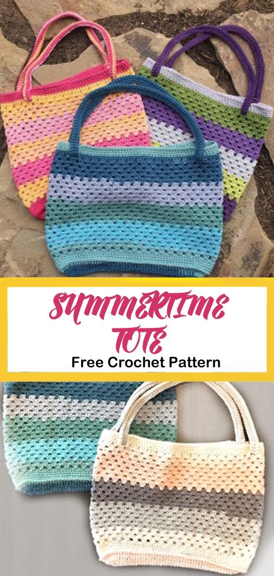 tote free crochet pattern – bag crochet pattern- p…