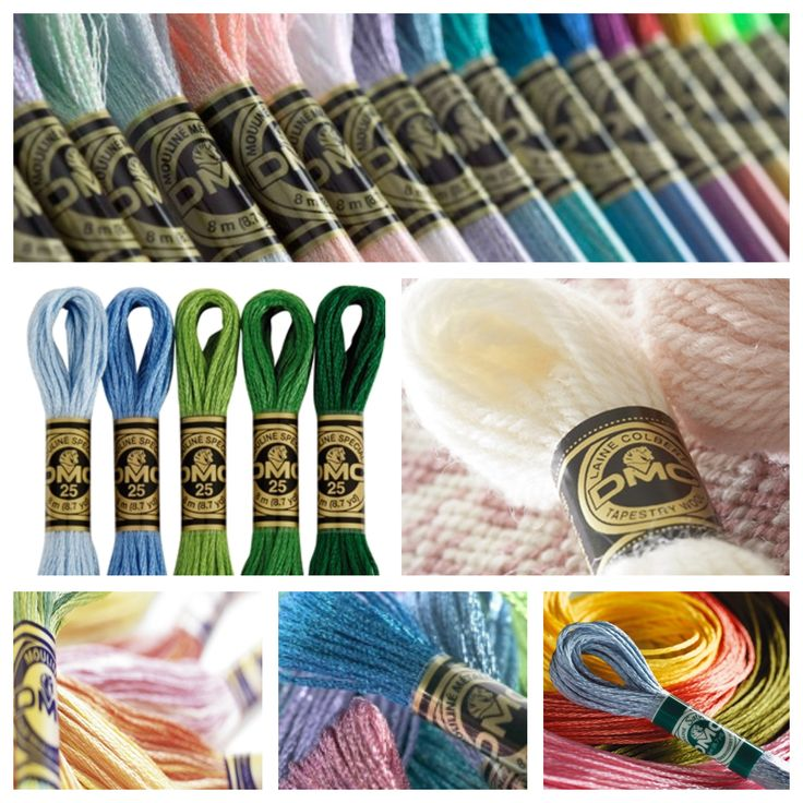 DMC Stranded Cotton, DMC Tapestry Wool, DMC Colour Variations, DMC Light Effects & DMC Satin Floss (100% Rayon) are now all available for purchasing online!