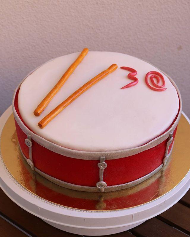 #cake #baking #mascarpone #strawberry #drum #birthday #homemade #hobby #sweetlife