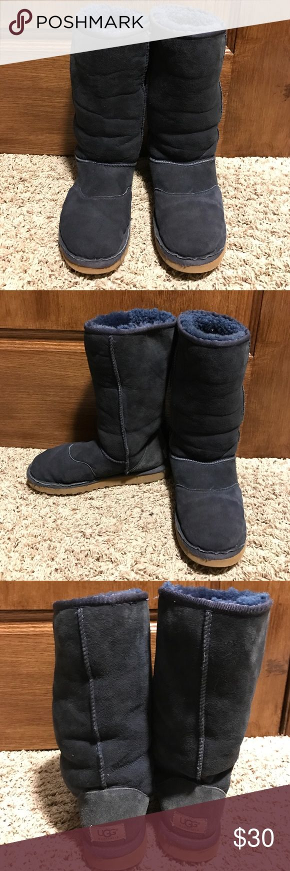 Navy Blue Uggs Super comfy and unique uggs! UGG Shoes Winter & Rain Boots