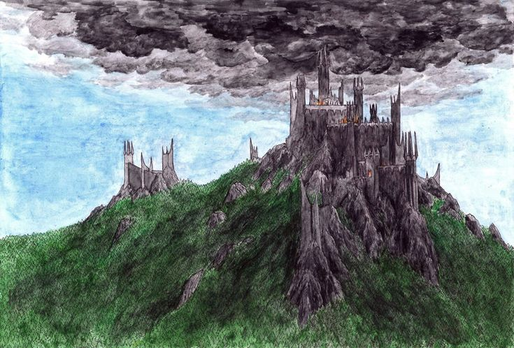 Dol Guldur was a dreadful stronghold of Sauron in the south of Mirkwood, where he dwelt in secret as the Necromancer, until discovered by the Wise. Thráin II, king of the Durin's folk and fath...
