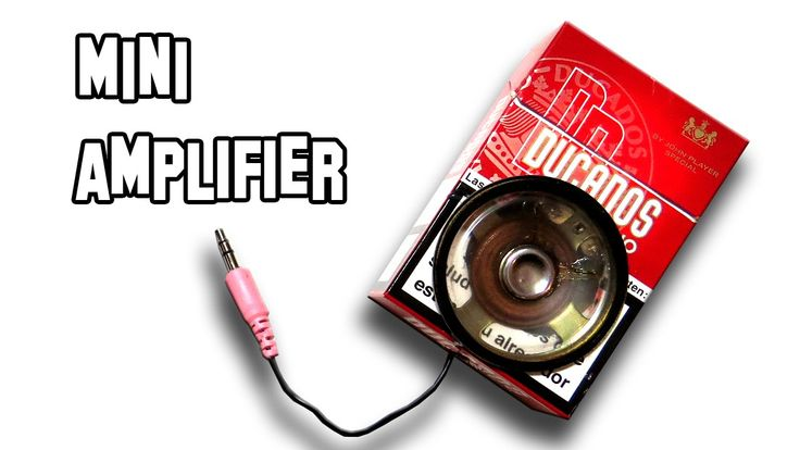 How To Make a Mini Amplifier For SmartPhone | Cool Science Experiment