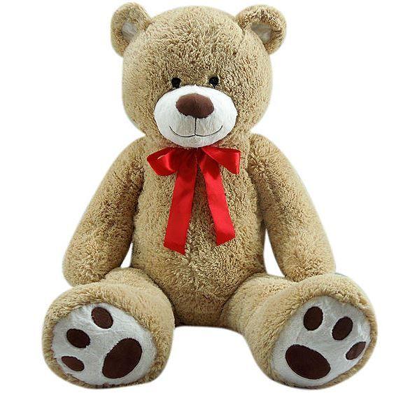 "Giant Plush Bear w/ Ribbon: 59"" Bear $34.99 46"" Bear $24.99 -- Pickup at Kmart #LavaHot http://www.lavahotdeals.com/us/cheap/giant-plush-bear-ribbon-59-bear-34-99/65175"