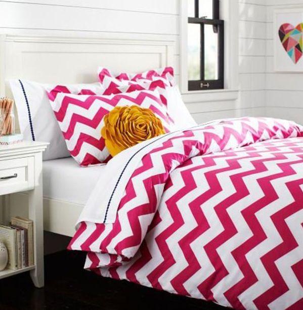 Pink Chevron bed spread. http://www.cafepress.com/iretro.956240034