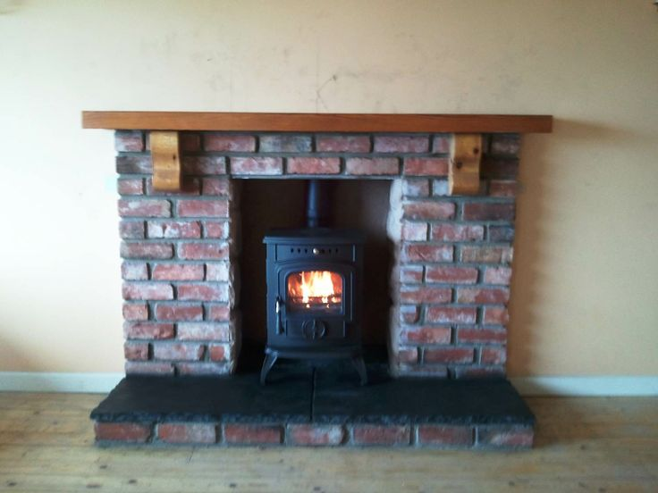 Olymberyl Gabriel Multi Fuel Stove and Brick Fireplace