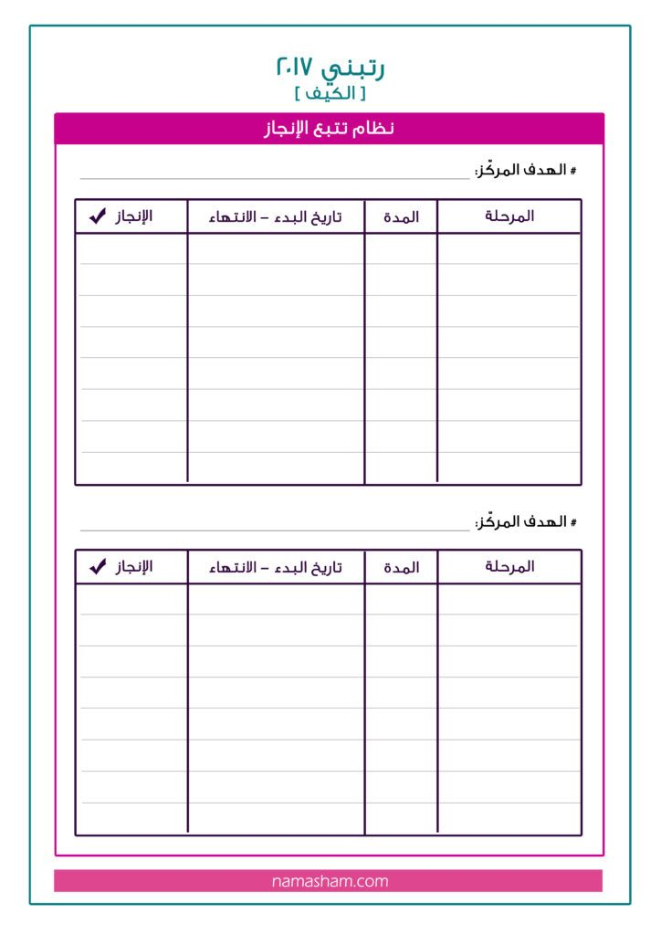 أوراق عمل دورة رتبني2017 مدونة نماء شام Life Planner Organization Bullet Journal Books Life Skills Activities