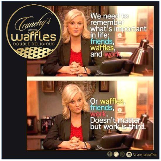#crunchyswaffles #friendship #work CRUNCHY's Waffles