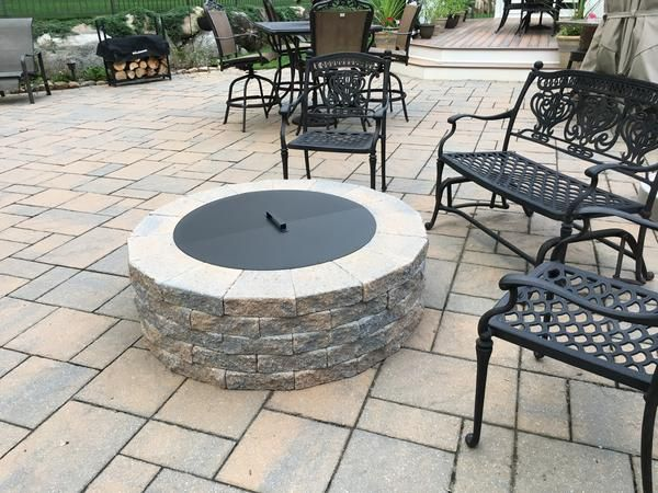 Round Fire Pit Covers Backyards Round Fire Pit Cover