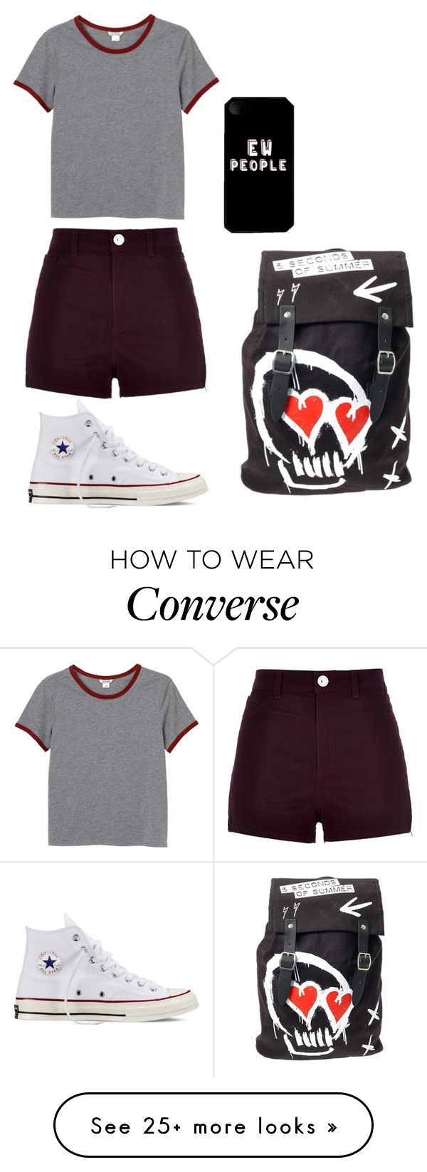 """""""Untitled #569"""" by skyeblizz on Polyvore featuring Monki, River Island and Converse"""