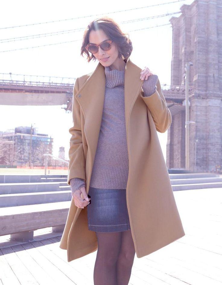Wool & Cashmere Camel Maternity Coat  | Seraphine  Love New York fashion, maternity style #stylethebump mommy style, NYC style, maternity coats