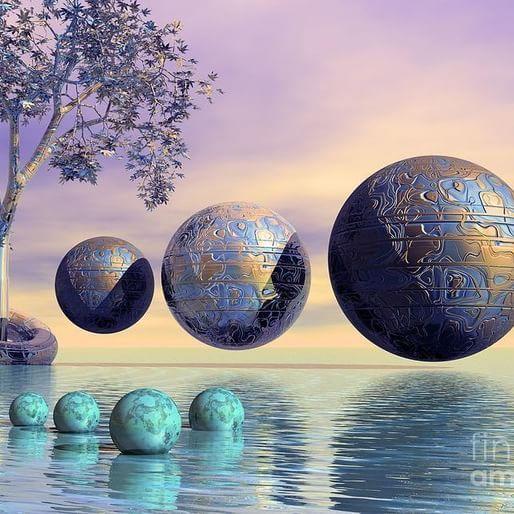 """Nothing happens until something moves."" ― Albert Einstein ❇  S.Liimatainen  #digital #artwork #surreal #surrealart #surrealism #art #creativity #instaart #universe #planet #satellites #still #seven"
