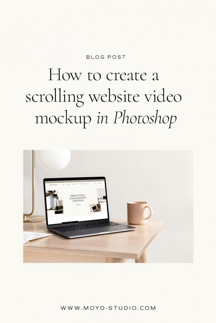 How To Create A Scrolling Website Mockup Moyo Studio In 2021 Website Mockup Latest Website Designs Graphic Design Mockup