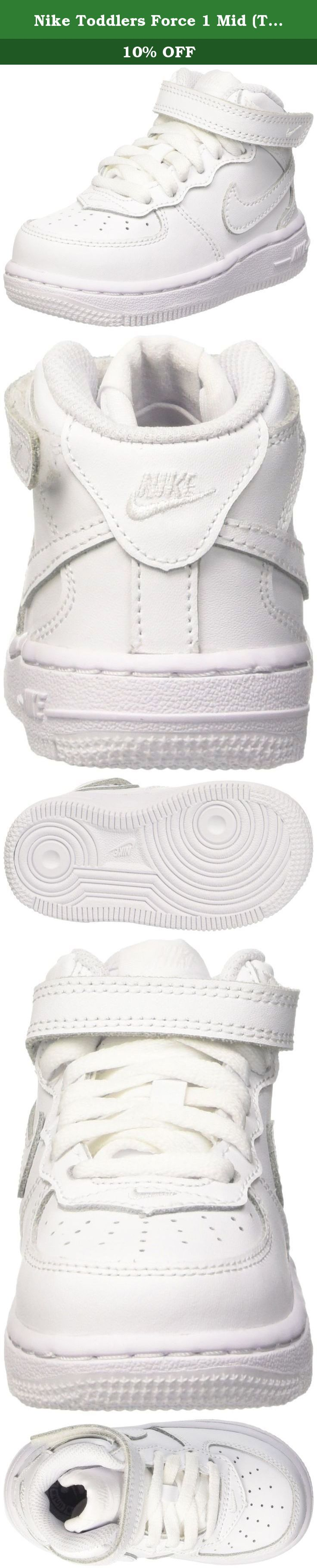 Nike Toddlers Force 1 Mid (TD) White/White/White Basketball Shoe 9 Infants US. Much like other Nike footwear icons, Air Force 1 has gained popularity not only with b-ball enthusiasts, but also indie trendsetters and fashion-seekers; these Nike Air Force 1 Mid basketball shoes are a winning example. Just slip your feet into these bad boys to experience the superior comfort for yourself.