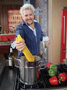 New York Times best-selling cookbook author and successful restaurateur Guy Fieri hosts Diners, Drive-ins and Dives, Guy's Big Bite and Tailgate Warriors and guest judges on Food Network Star, the hit reality show that he won in 2006.
