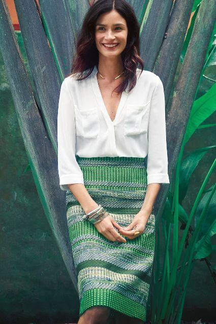 Striped Jade Skirt
