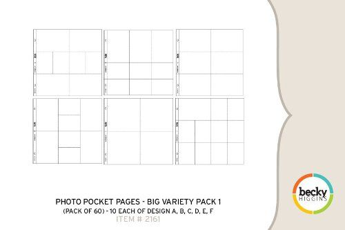Photo Pocket Pages - Big Variety Pack 1 (60 Pages)