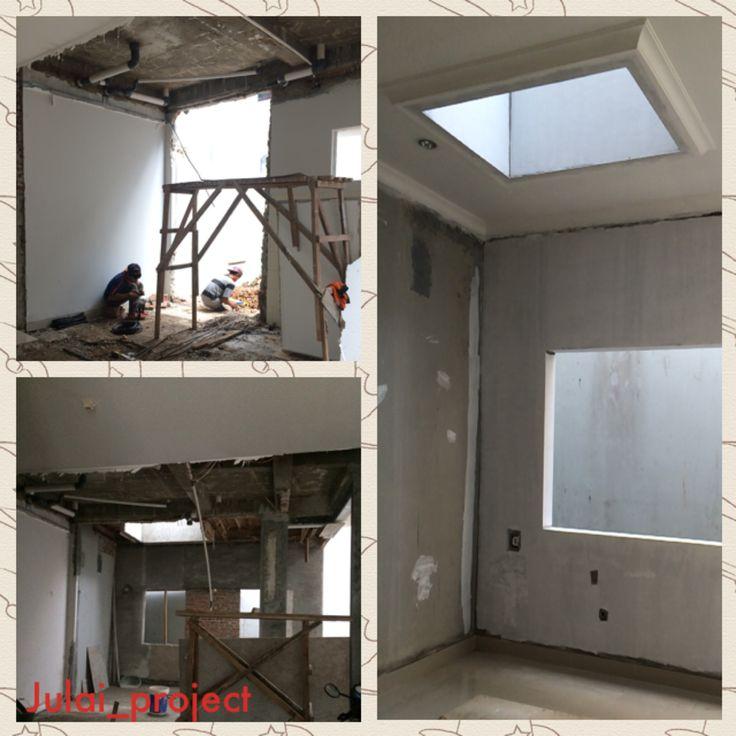 My project-renovasi penambahan area dapur dengan ada skylight