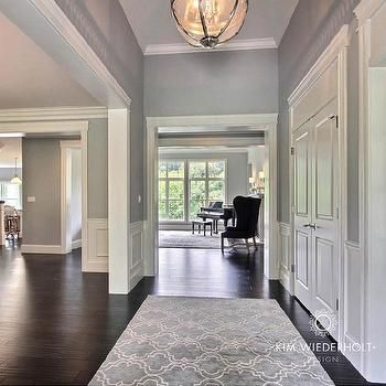 Transitional - Entrance/foyer - Sherwin Williams Light French Gray