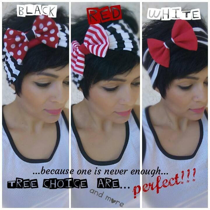 Black White Red Bows!!!!!! Hand Made Hair Accessories