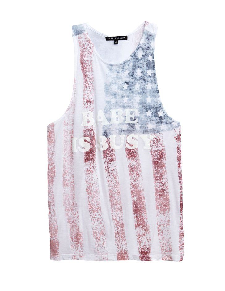Pin for Later: Erin Wasson's PacSun Collab Will Help You Nail Laid-Back Summer Style  Erin Wasson Americana Goddess Racerback Tank Top ($27)