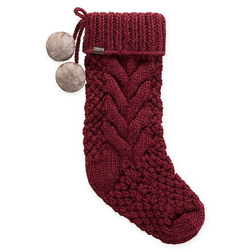 Bed Bath And Beyond Ugg Classic Cable Christmas Stocking In Redwood
