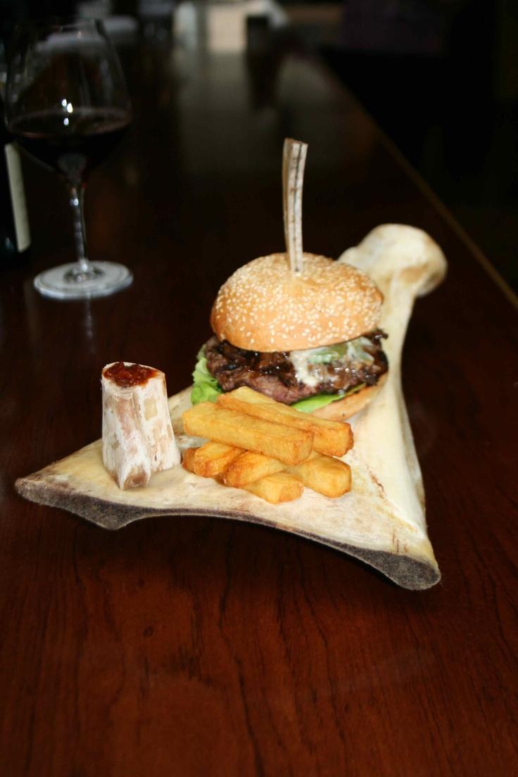 T-Rex burger from Boulcott Street Bistro