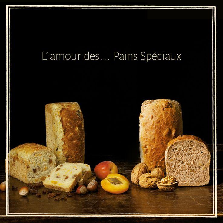 Για special περιστάσεις, δοκιμάστε τα Paul Special Breads! Ψωμί μούσλι με βερίκοκα, σταφίδες και φουντούκι ιδανικό για πρωινό και ψωμί φόρμας με καρύδια, τέλειο σαν συνοδευτικό τυριών ή αλλαντικών.