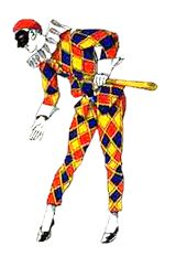 """""""Arlecchino Harlequin  a mischievous clown, the servant of either Pantalone or Il Dottore (see later posts). He often tries (but fails) to trick his master. The girl he has set his heart upon is Colombina but unluckily she is only interested in making fun of him. However, he is a favourite with the audience.  His costume contains a very colourful diamond shaped design and he can often be found as the Joker on playing cards."""""""