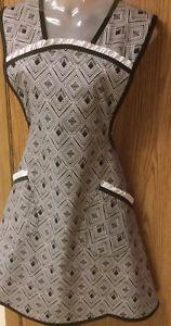 Bib Apron Geometric Black White Diamond   Handmade Vintage Retro Plus Size    eBay