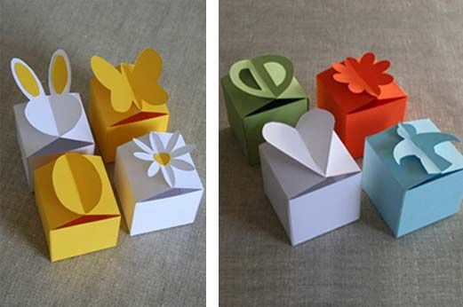 Cute paper box templates