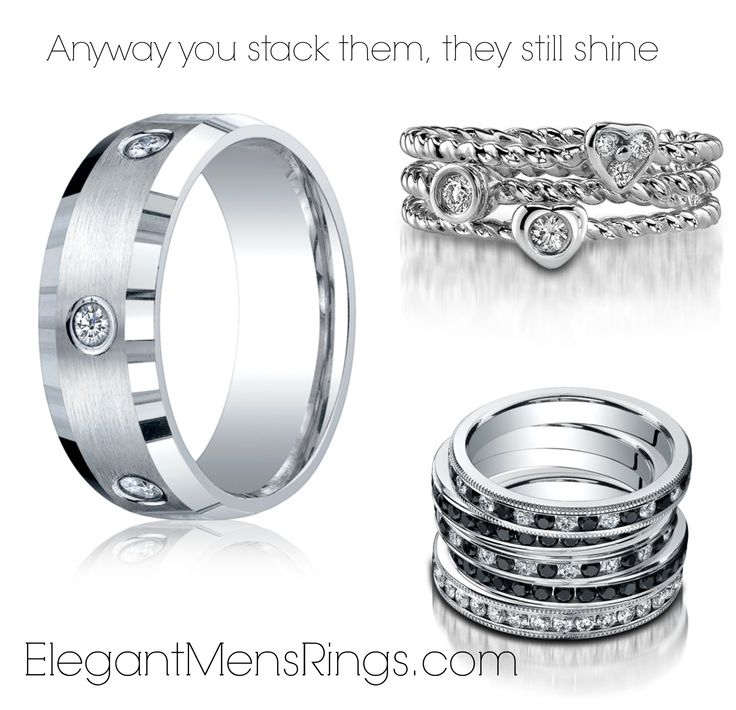 Benchmark Diamond bands come in a lot of different stones and metal....stop on by our store and ask!