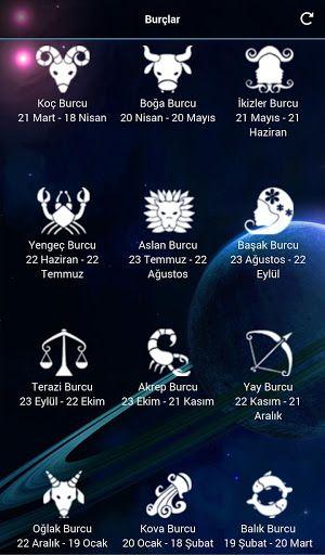 Bu uygulama sayesinde burcunuzun Günlük, Haftalık, Aylık ve Yıllık yorumlarını takip edebilirsiniz.<p>Ayrıca uygulamada burcunuza ait detaylı özellikleride bulabilirsiniz.<p>Yönetici Gezegeninizi, Renginizi, Elementinizi, Tarot Kartınızı, Niteliğinizi, Hayvanınızı, Uğurlu Sayınızı, Bitkinizi, Gününüzü, Kıymetli Taşınızı, Uğurlu Taşınızı, Kıymetli Madeninizi bu uygulama sayesinde öğrenebilirsiniz.<p><p>Etiketler : Burçlar, Burç Yorumları, Günlük Burçlar, Günlük Burç, Günlük Burç Yorumları…