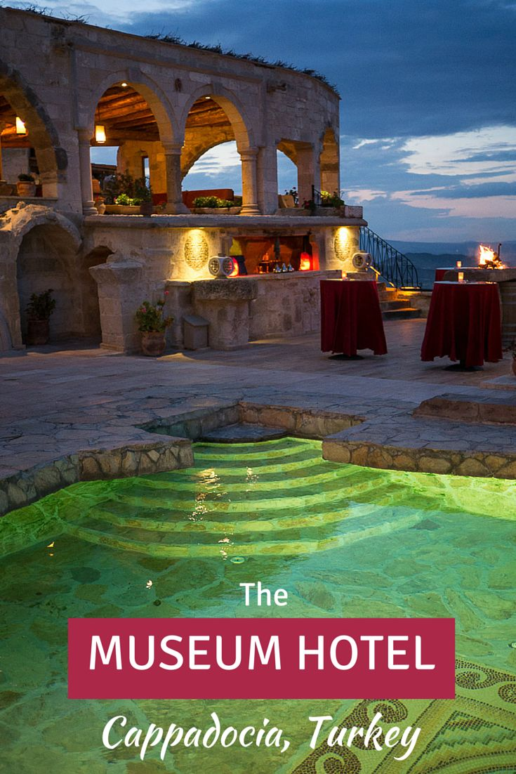 Cave hotels in Cappadocia, Turkey are a dime a dozen, but the Museum Hotel truly stands out. You can have your own night at the museum wrapped in luxury, and with an unrivalled view of the unique moonscapes and valleys below.