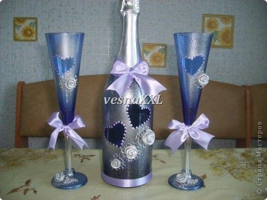 Декор предметов Мастер-класс День рождения День семьи Новый год Свадьба Лепка набор Синий Иней Бисер Клей Ленты Сетка Тесто соленое фото 7