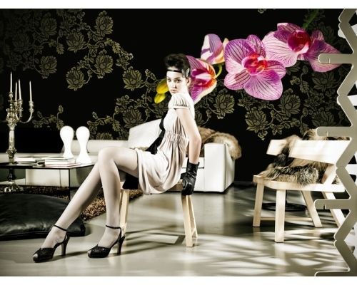 Elegancka tapeta z charakterystycznie zaznaczonym kwiatem. Designerskie tapety http://esencjadesign.pl/walldeco-gio-pagani-10/2730-jungleland.html
