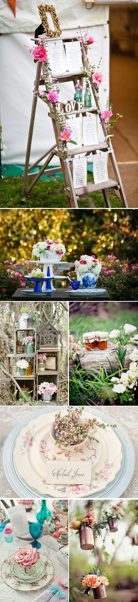 Decoración vintage para bodas y eventos