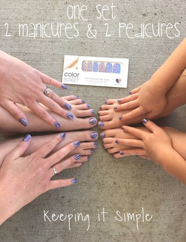 With Color Street nail strips, you get more bang for your buck! At only $11-$14, anyone can afford beautiful nails!