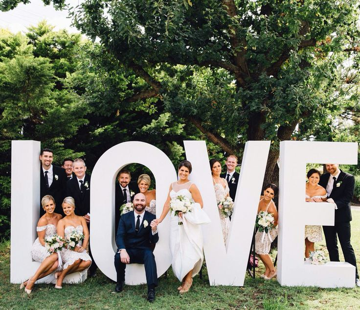 we love a big bridal party these guys were so much fun hire our huge love letters across sydney and newcastle