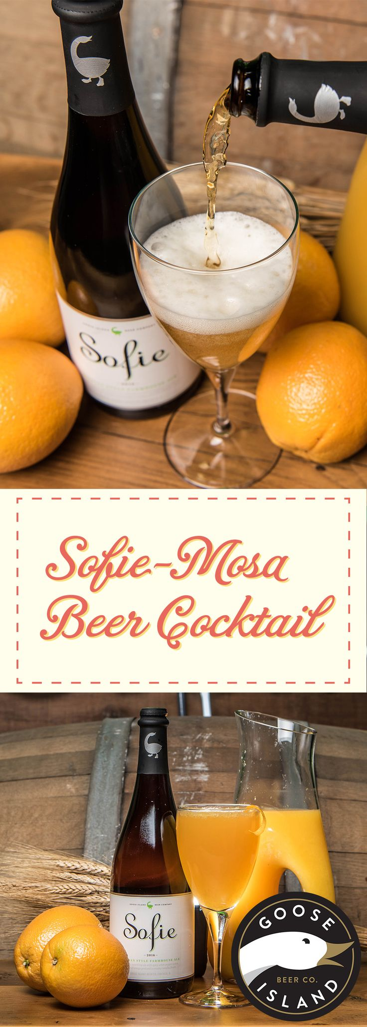 Need a quick way to take your brunch to the next level? It's time for the Sofie-mosa. This simple beer cocktail is delicious and perfect for brunch. You take 1 part Sofie - the Belgian Style Farmhouse Ale from Goose Island - and add 1 part orange juice. Add a little garnish if you're feeling fancy and BOOM - you've got yourself a simple yet elegant craft beer cocktail that pairs wonderfully with all your favorite brunch dishes. Try it with Eggs Benedict!