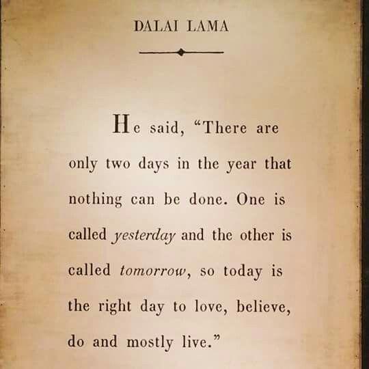 Totalt sande ord.. husk at være i nuet