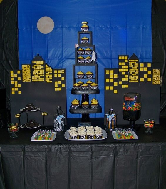 Awesome Batman Birthday Party!  See more party ideas at CatchMyParty.com!  #partyideas #batman