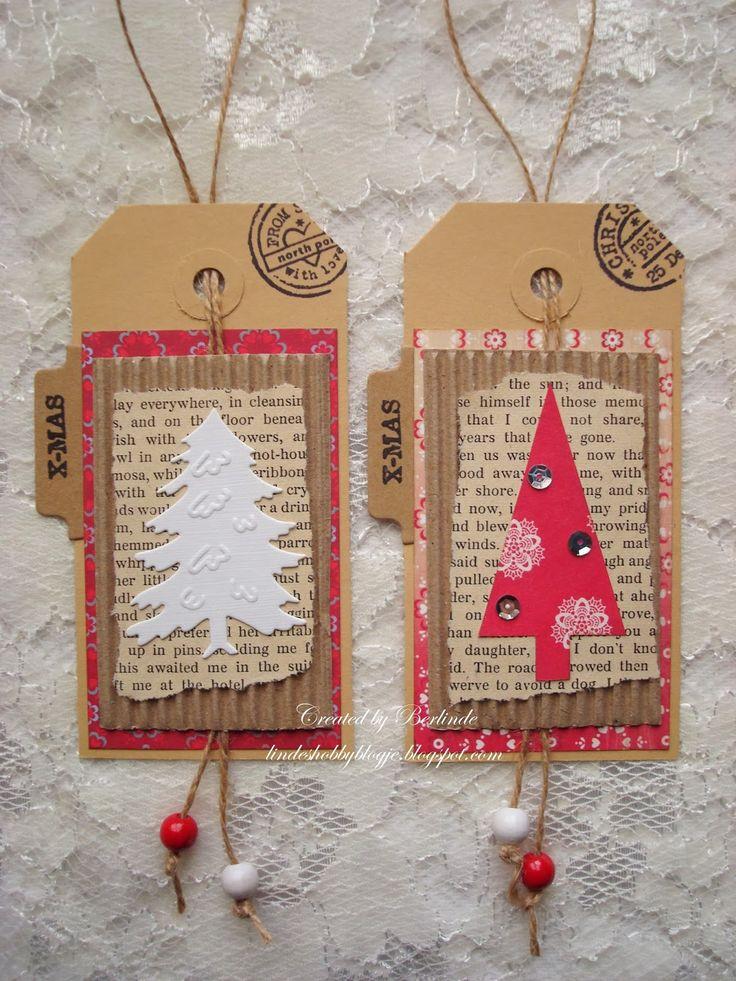 linde's hobbyblogje: Kerstlabels en mini-kaartjes
