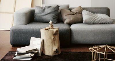 Alphabet Straight sofa - Modular 2 seats - L 210 x D 120 cm Light grey by Fritz Hansen