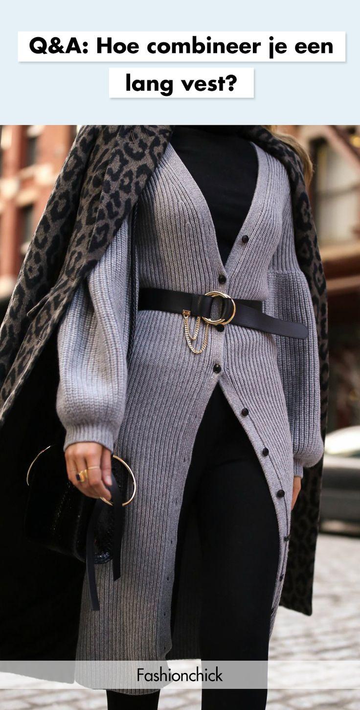 Q&A: Hoe combineer je een lang vest? | Fashionchick