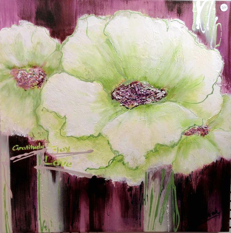 """White Velvet""   acrylics on gallery canvas 24""x24"" Sold"