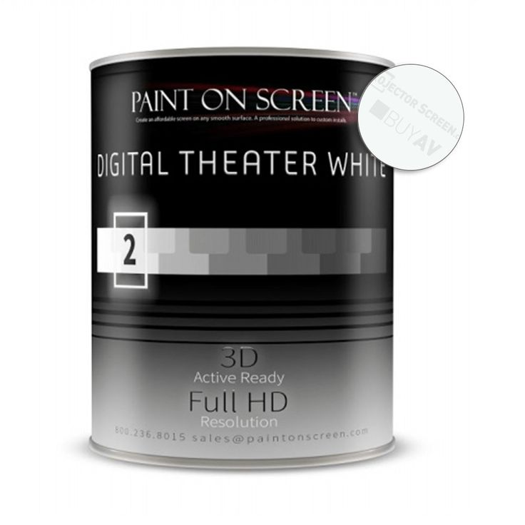 Projector Screen Paint - Digital Theater White-Quart Q002 - Paint on Screen POS-Q002