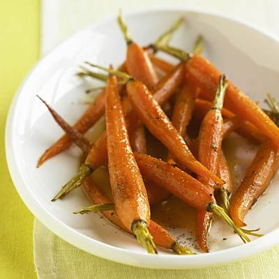 Roasting carrots unlocks their antioxidant power! These Roasted Baby Carrots with Fresh Thyme are even healthier than raw veggies | health.com