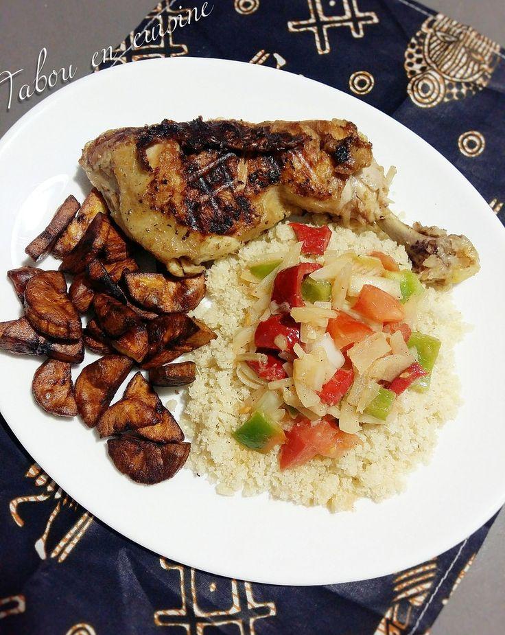 L'attiéké est le couscous de manioc, je vous ai déjà présenter la recette avec du poisson braisé. Je n'avais pas le temps d'aller acheter mon poisson (c'est vrai qu'en ce moment, je préfère le prendre frais), j'ai donc tenté la version avec du poulet,...