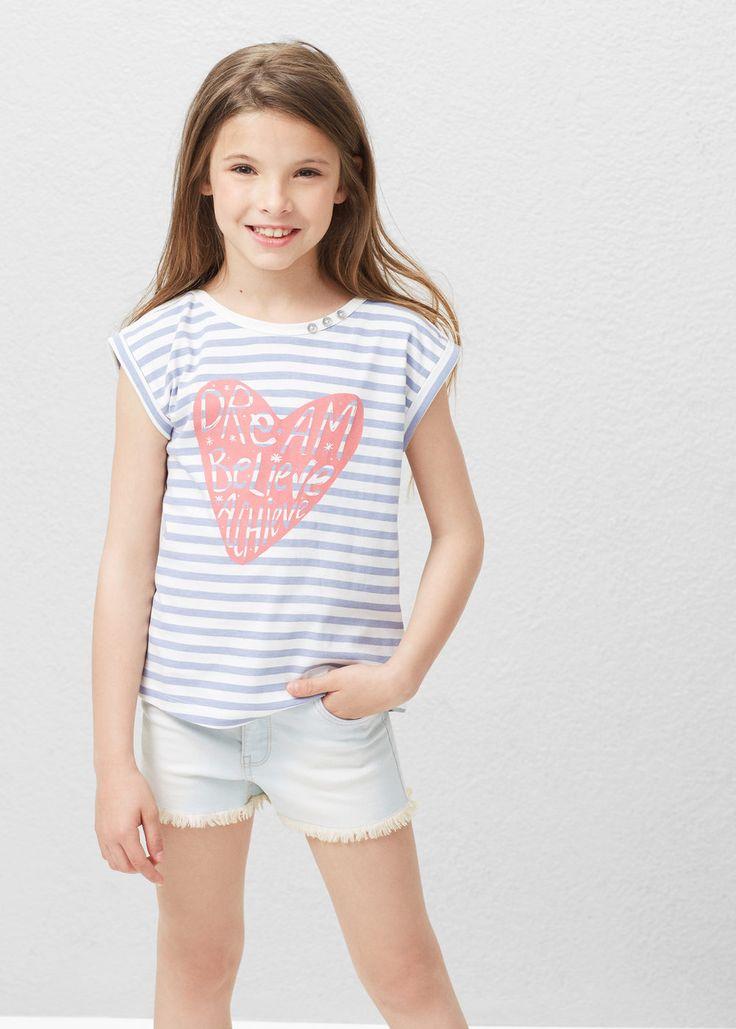 Printed cotton t-shirt | MANGO KIDS